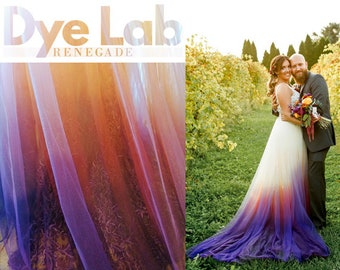 Sunset Ombre Dyed Bridal Wedding Gown: Design My Dress