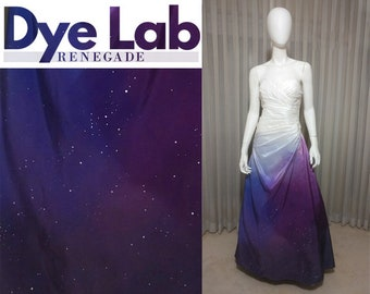 Galactic Ombre Dyed Bridal Wedding Gown Dress with Stars: DESIGN YOUR DRESS