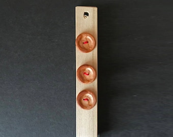 Set of 3 Cherry Wood Buttons