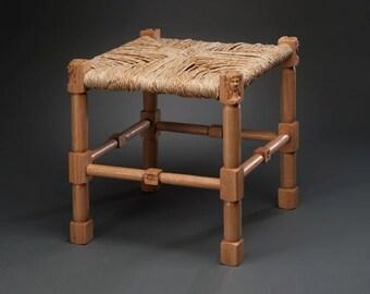 Medieval Rush Seat Stool #2