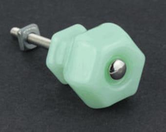 Jadeite Green Or Blue Milk Glass Knobs 1 inch or 1-1/4 inch