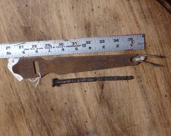 Antique Hand Wrought Iron Latch with Right or Left Mounting 10 Inch