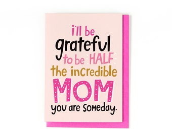 Card For Mom - Mother's Day Card - Great Mom Card - Mother's Day Gift - Mom Birthday Card