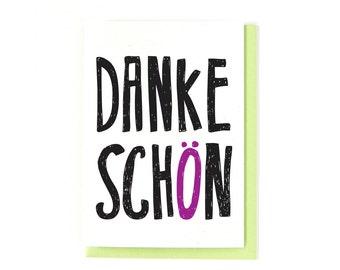 Danke Schön Card - German Card - Thank You Card - Deutsch - Danke Card - Greeting Card - Germany - Thanks Card