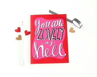 Card For New Love - New Relationship Card - Happy Anniversary Card - Lovely As Hell