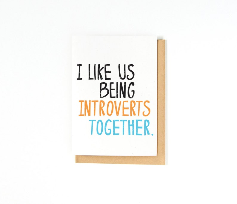 Introvert Valentine's Day Card  Cute Introvert Greeting image 0