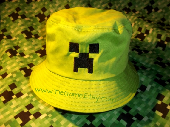 Items similar to Minecraft Bucket Hat on Etsy ee9bec4d1fa