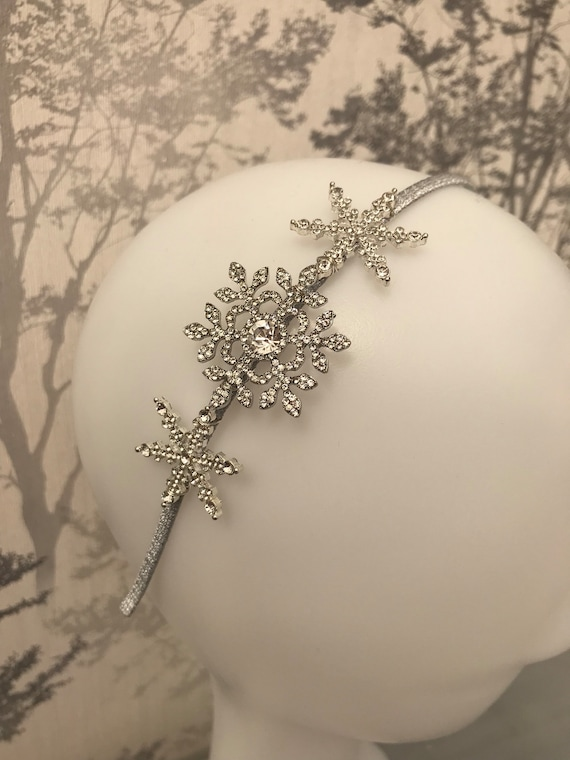 Winter wedding snowflake Bridal headband wedding  c1de9073083