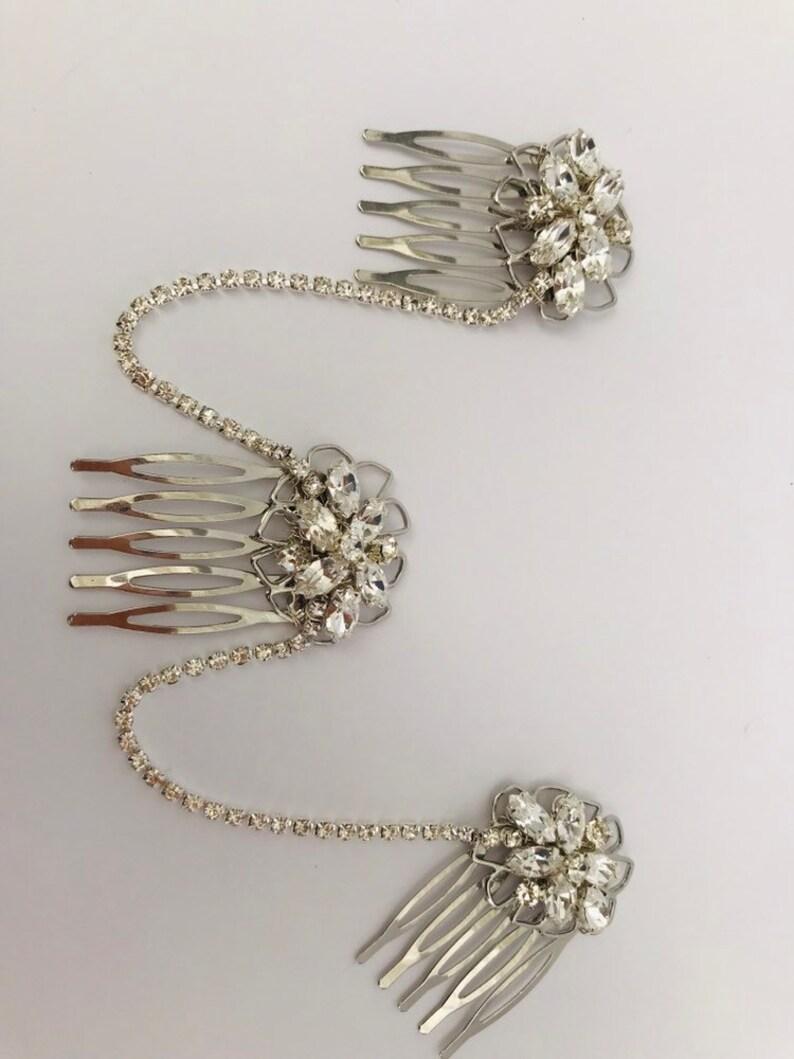 bridal hair chain Gatsby 1920s hair chain. bridal headpiece Hair accessory Art Deco Hair chain headpiece