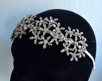 bridal headpiece - floral bridal headpiece - crystal bridal headpiece - wedding headband - bridal headband - bridal accessories.