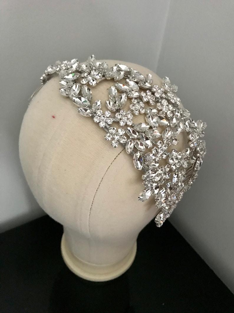 wedding headband crystal hair accessories Silver crystal headpiece Elegant Crystal Bridal headband wedding tiara.