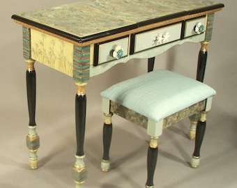 SALE 1350./was1980. | Flip-top Vanity or Writing Desk - |  Last available in this style | Stool not included