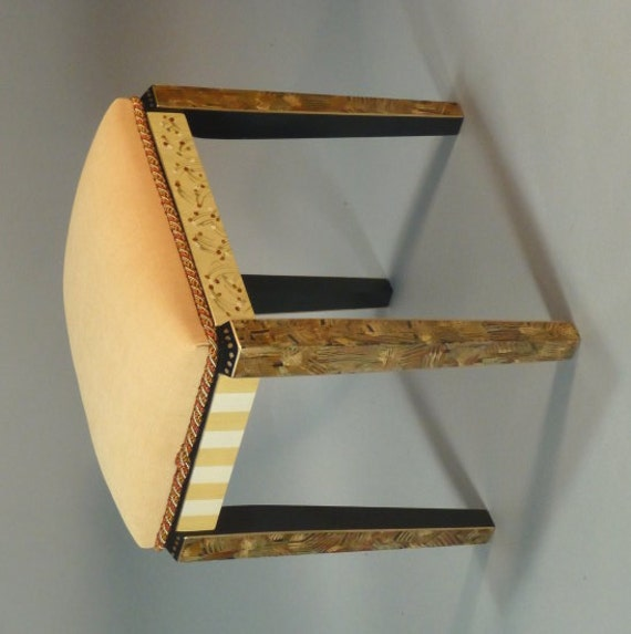 Vanity Stool Gold-Green  Custom Made-to-Order