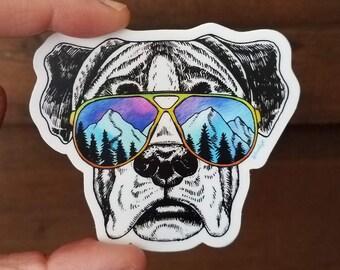 Boxer Dog Sticker Vinyl Outdoor Gifts Dog Breed Adventure Sticker Pet Sticker Animal Weatherproof Sticker