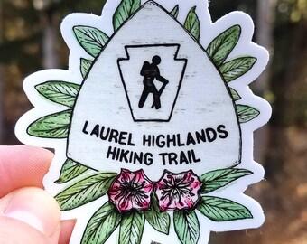 Laurel Highlands Hiking Trail Sticker Pennsylvania Nature Outdoor Adventure Vinyl Weatherproof Sticker