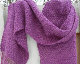 Handwoven Winter Scarf in Violet