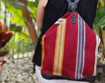 Vintage Backpack,Vintage Leather Bag,Kilim Bag,Boho Backpack,Hippie Backpack,Vintage Rucksack,Vintage Bucket Bag,Backpack Purse,Hobo Bag