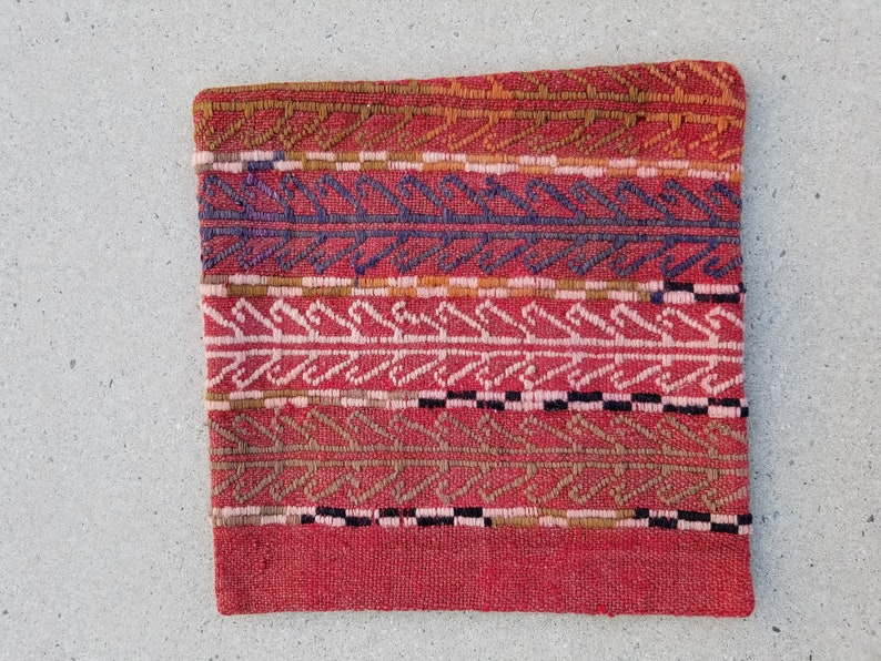Pillow Cover 15x15 Kilim Pillow Cover Sofa Pillow Cover image 0