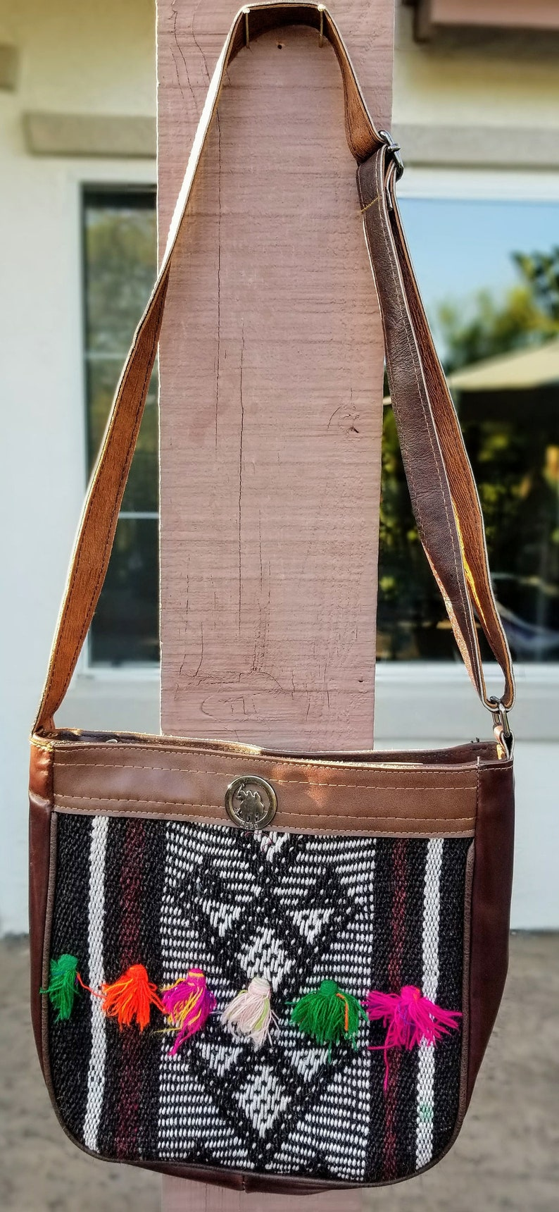 Vintage Crossbody Bags Vintage Kilim Bag Boho Crossbody image 0