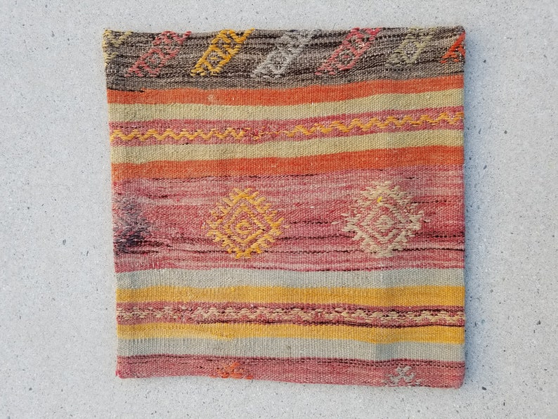 Pillow Cover 17x17 Kilim Pillow Cover Sofa Pillow Cover image 0