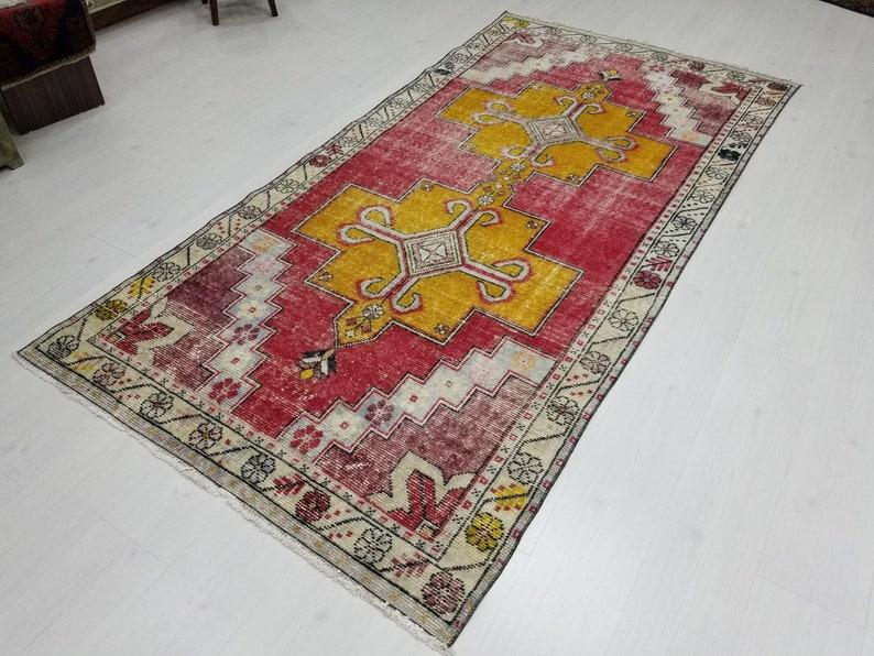 4 by 8 rug Vintage Oushak Rug Vintage Rug Oushak Area Rug image 0