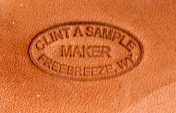 Custom 3//4  inch Maker Stamp Leather Tool w your name town state