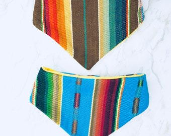 2 pack Serape Bandana Bibs for babies and small pets