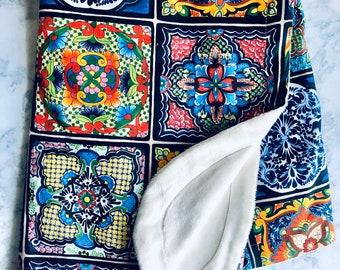 Spanish Tile Baby Blanket