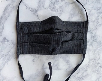 Adult Black Mask, Surgical Mask with nose clip