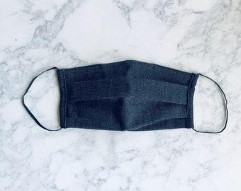 Adult Black Mask,  Ear Hoops