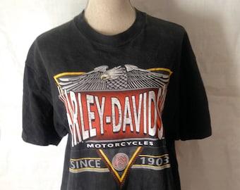 Vintage Harley Davidson Brian's Harley Philadelphia PA 1992 tshirt