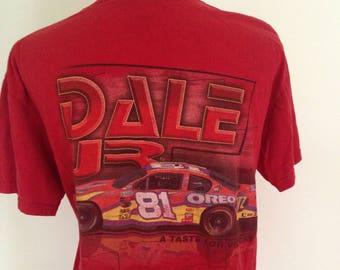 Vintage Dale Earnhardt Jr. Nascar  81 Oreo Car Tshirt late- 90s 0655556bf0e5