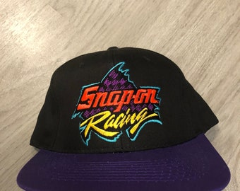 a00de9e2ee2348 Vintage Snap On Racing early 90s Racing Snapback Hat- Deadstock