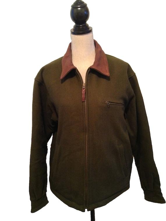 VENTE! Veste de chasse vert laine 30 % OFF-Vintage Woolrich hommes