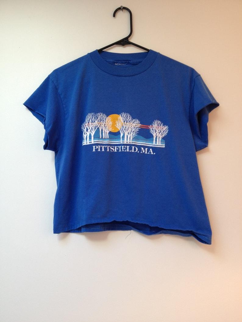 Vintage Pittsfield Massachusetts Cropped Tshirt