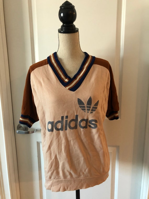 Vintage Adidas Three Stripes Trefoil 70s  RARE Tsh