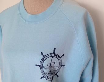 SALE 30% OFF- Vintage Wells Beach Ogunquit Maine Sweatshirt