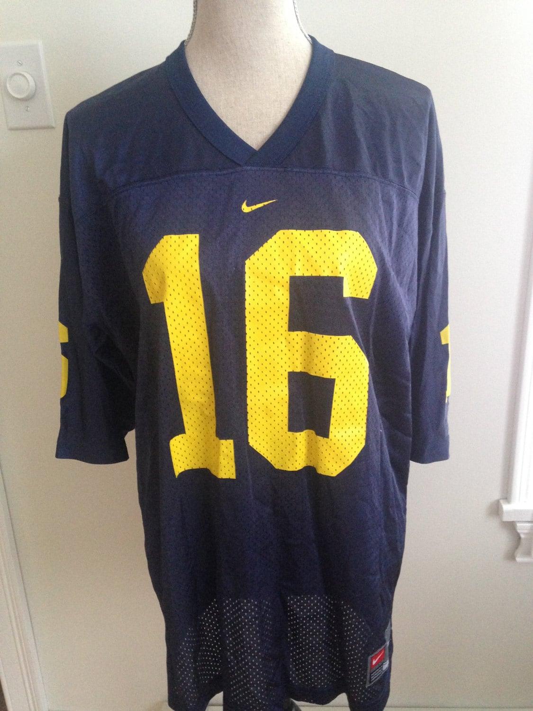 8df6057bb09 Vintage Michigan University 16 mid-90s Nike Jersey | Etsy