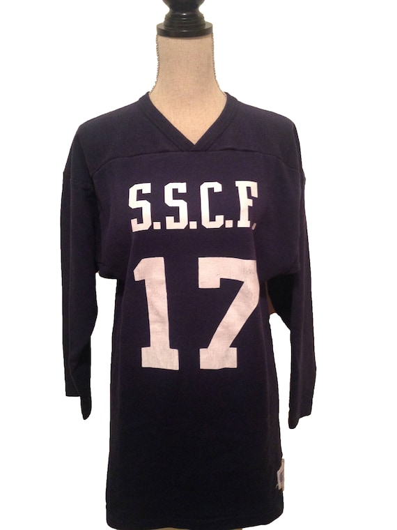 bfd11013558 Vintage SSCF Football 70s Russell Practice Jersey | Etsy
