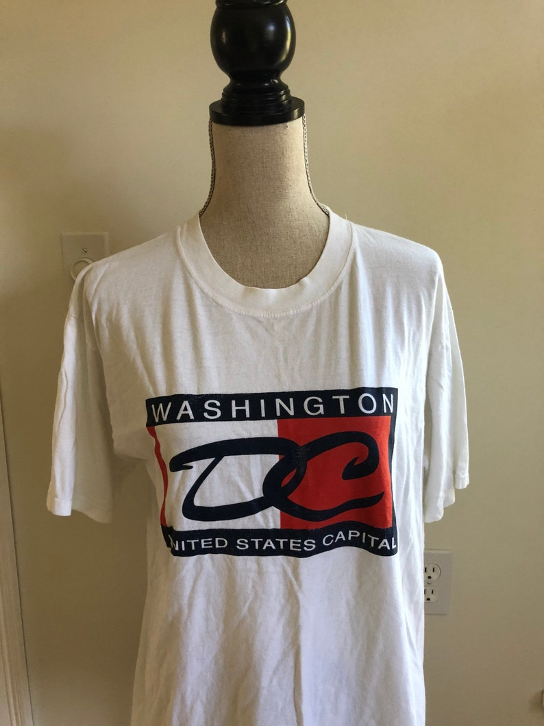fe9242dc76c Vintage Washington DC Fake Tommy Hilfiger 90s T-shirt