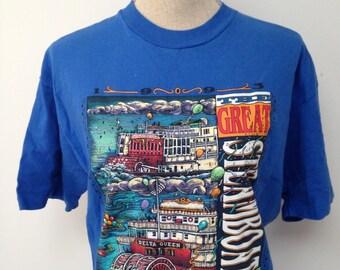 Vintage Mississippi Steamboat Tshirt