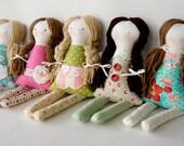 Custom Handmade 12 inch Rag Cloth Doll, First Birthday