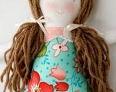 Handmade 12 inch Rag Cloth Waldorf Doll, Pearl