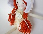 Prairie Bonnet for Cloth Doll, Rag Doll, or Newborn
