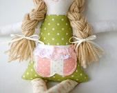 Handmade 12 inch Rag Cloth Doll, Ava