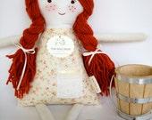 Handmade Waldorf Rag Doll, Cloth Softie, Laura Ingalls Prairie Doll, Anne of Green Gables