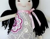 Handmade Cloth Doll, Rag Doll, Asian Fabric Doll, Stella