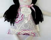 Handmade Cloth Doll, Rag Doll, Asian Chinese Korean Doll, Stella