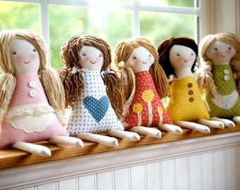 Custom Rag Doll, design your own rag doll, personalized rag doll, custom cloth doll