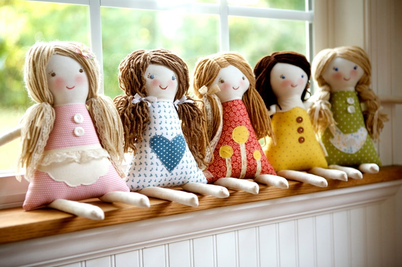 Custom Rag Doll design your own rag doll personalized rag image 0